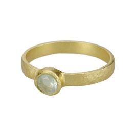 Ring °Aqua Splash° - Gold / Calcit