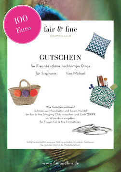 Gutschein °Fair Products° (pdf)