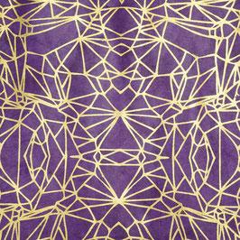 Geschenkpapier °Graphics° - Lila und Gold