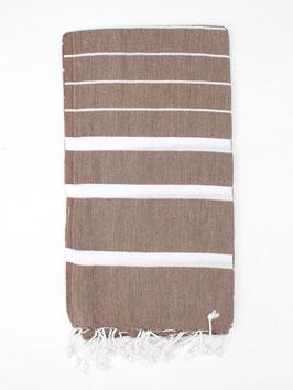 NEU: Großes Badetuch / Hamam Tuch °Ibiza° - 90 x 180 cm - Mokka