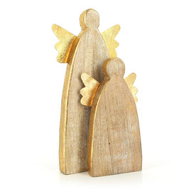 """Holzfigur """"Angel"""" aus Mangoholz"""
