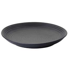 4 x flacher Essteller °Hanoi° - Schwarz - Keramik