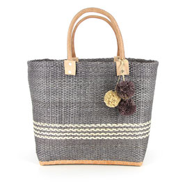 Korb-Shopper °Madrid° - Grau & Natur