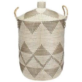 NEU: Wäschekorb °Tamaki° aus Seegras mit Tragegriffen - 2 Größen
