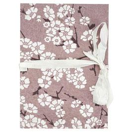 Leporello für Photos °Kirschblüte° - Mauve & Weiß