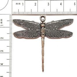 Anhänger Libelle in Silber-und Bronzefarben