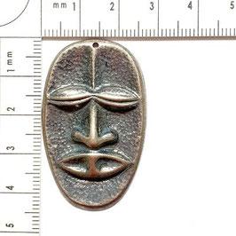 Anhänger Maske in Silber-und Bronzefarben