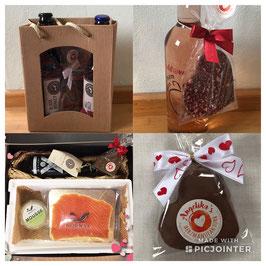 Diverse Geschenke mit Barfussbier, NORWYK, Mosteria Bussinger