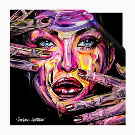 """Foulard en Soie """"Every Woman is a Diamond"""" 75 x 75 cm, Edition Limitée à 40 exemplaires."""