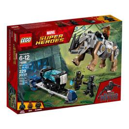 Black Panther Enfrentamiento en la mina de Rhino Lego Marvel  Super Heroes