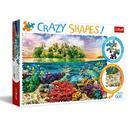 Trefl Crazy Shapes ! - Rompecabezas Isla Tropical 600 piezas