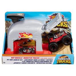 Hot Wheels Monster Trucks Garage Lanzador