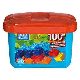 Junior Builders Caja de Construcción Mini 100 piezas Mega Bloks