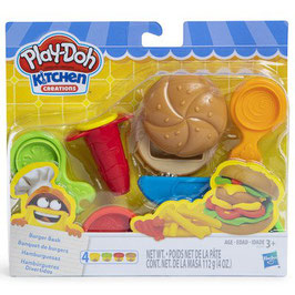 Hamburguesas Play Doh Kitchen Creations