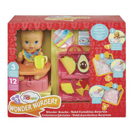 Little Mommy Wonder Nursery Bebé Comiditas Sorpresa Fisher Price
