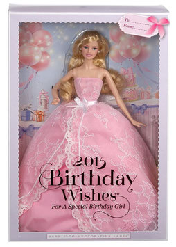 Barbie Collector 2015 Birthday Wishes