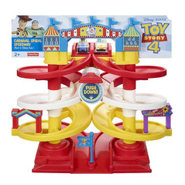 Toy Story 4 Carnival Spiral Speedway Fisher Price