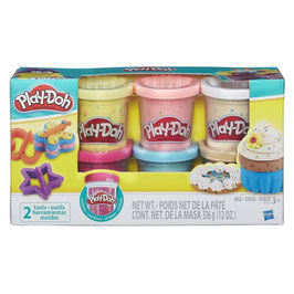 Play Doh Pack 6 Masa con Chispas