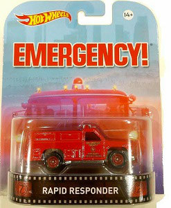 Rapid Responder Emergency Hot Wheels Retro