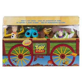 Toy Story Baúl de Juguetes de Andy  4-Pack Figuras Retro