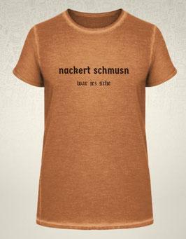 """Shirt (Männer) """"Nackert schmusn war jez sche"""""""