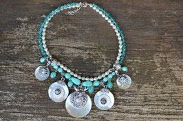 "Perlenkette ""Turquoise Fatale"""