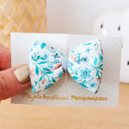 barrette Liberty Printemps, lien bleu