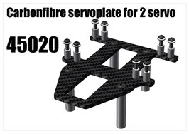 CFK servoplate for 2pcs servo