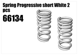 Spring Progressive short White 2pcs