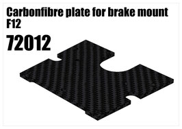CFK plate for brake mount