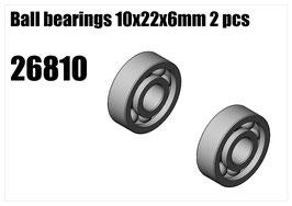 Clutch bell bearings 10x22x6 2pcs