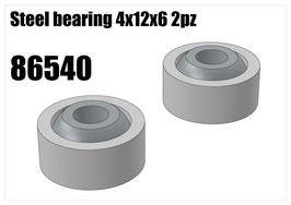 Steel bearing 4x12x6 2pz