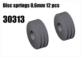 Disc springs 0,6mm 12pcs
