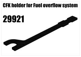 CFK holder for Fuel overflow system