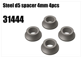Steel d5 spacer 4mm 4pcs