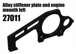 Alloy stiffener and engine mounth left