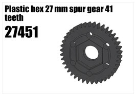 Plastic hex 27 mm spur gear 41 teeth