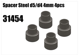 Steel d5/d4 spacer 4mm 4pcs