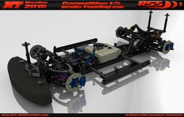 XT 2018 Touring Car Chassis kit with Zenoah and Beast S2 engine fixing kit (27180, 27146, 27115 and 27190, 27142, 27125)