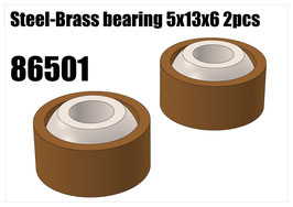 Steel-Brass bearing 5x13x6 2pcs