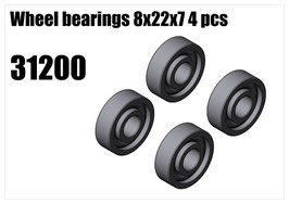 Wheel bearings 8x22x7 4pcs