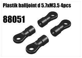 Plastik balljoint d 5.7xM3.5 4pcs