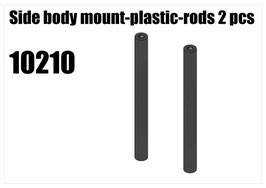 Plastic side body mount rod 2pcs