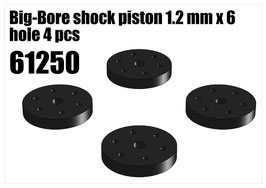 Big-Bore shock piston 1.2 mm x 6 hole 4 pcs