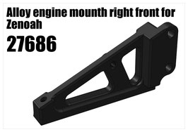 Alloy engine mounth right front for Zenoah