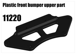 Plastic front bumper upper part