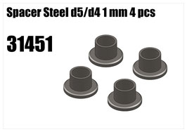 Steel d5/d4 spacer 1mm 4pcs