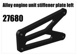 Alloy engine unit stiffener plate left