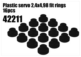Plastic servo 2,4x4,98 fit rings 16pcs