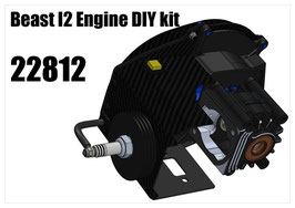 Engine Combo for XT Touring Car Chassis kit Beast I2 DIY kit with ignition (internal ignition version)
